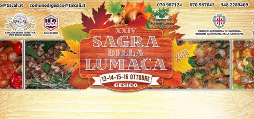 XXIV edizione della Sagra della lumaca - A Gesico dal 13 al 16 ottobre 2016