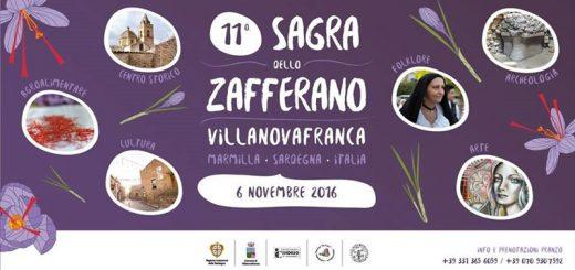 11^ Sagra dello Zafferano a Villanovafranca - Sabato 5 e domenica 6 novembre 2016
