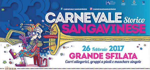 33° Carnevale Storico Sangavinese - A San Gavino Monreale il 23 e 26 febbraio 2017
