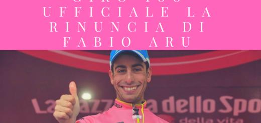 Giro 100, ufficiale la rinuncia di Fabio Aru