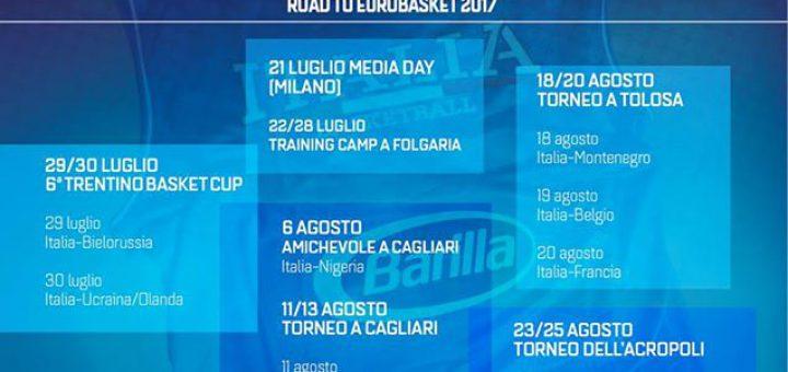 La Nazionale italiana di basket sarà a Cagliari per la preparazione ad EuroBasket2017