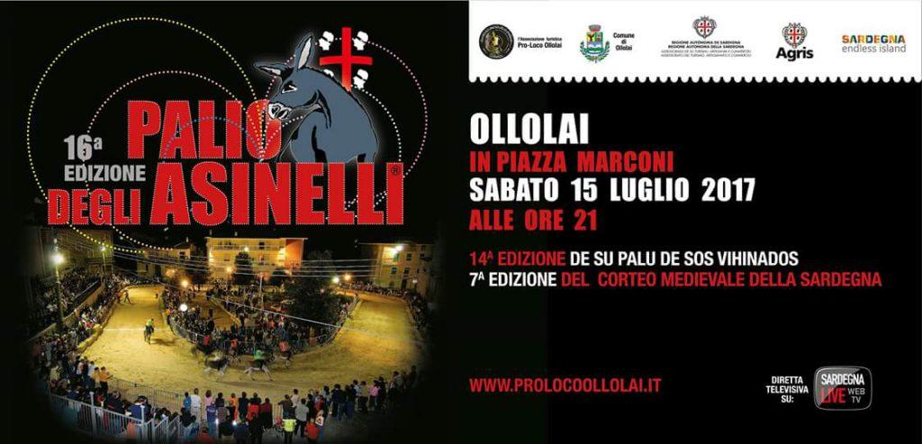 16^ edizione Palio degli Asinelli - A Ollolai il 15 luglio 2017