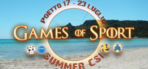 Games of Sport - Al Poetto di Cagliari dal 19 al 23 luglio 2017