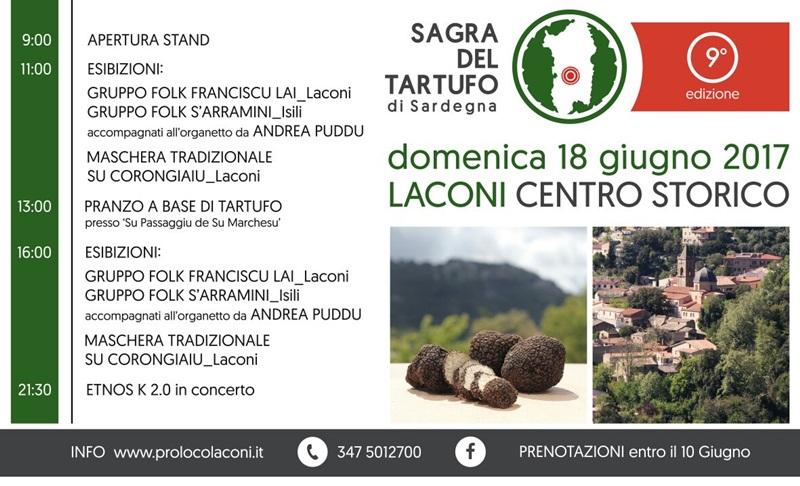 9^ edizione Sagra del Tartufo - A Laconi domenica 18 giugno 2017