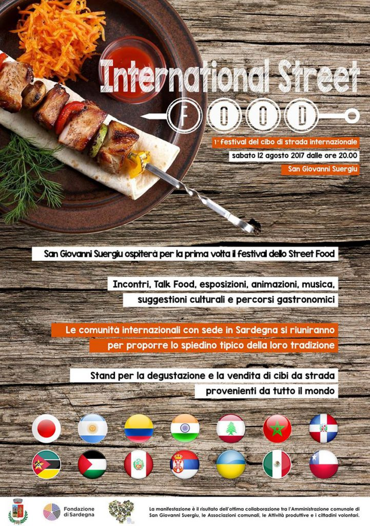 International Street Food a San Giovanni Suergiu - Sabato 12 agosto 2017