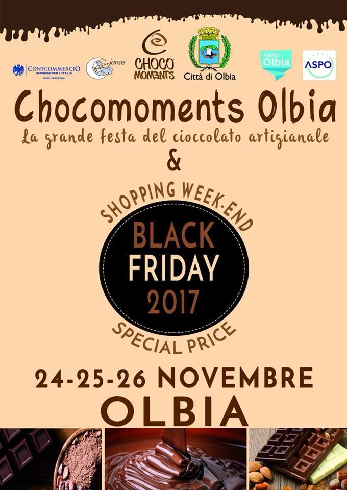 Festa del cioccolato 2017 a Olbia - Dal 24 al 26 novembre
