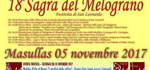 18^ Sagra del Melograno a Masullas - Domenica 5 novembre 2017