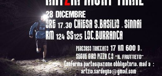Artzia Night Trail - Giovedì 28 dicembre 2017
