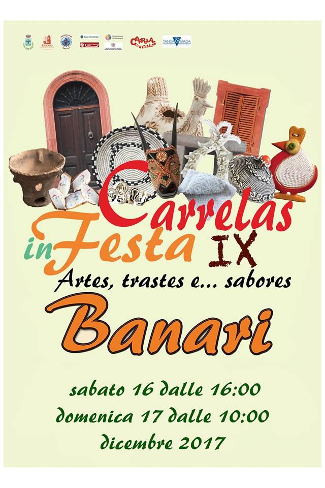 IX edizione Carrelas in festa a Banari - Sabato 16 e domenica 17 dicembre 2017