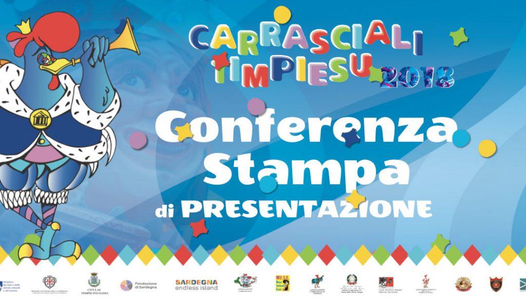presentazione del Carnevale Tempiese 2018