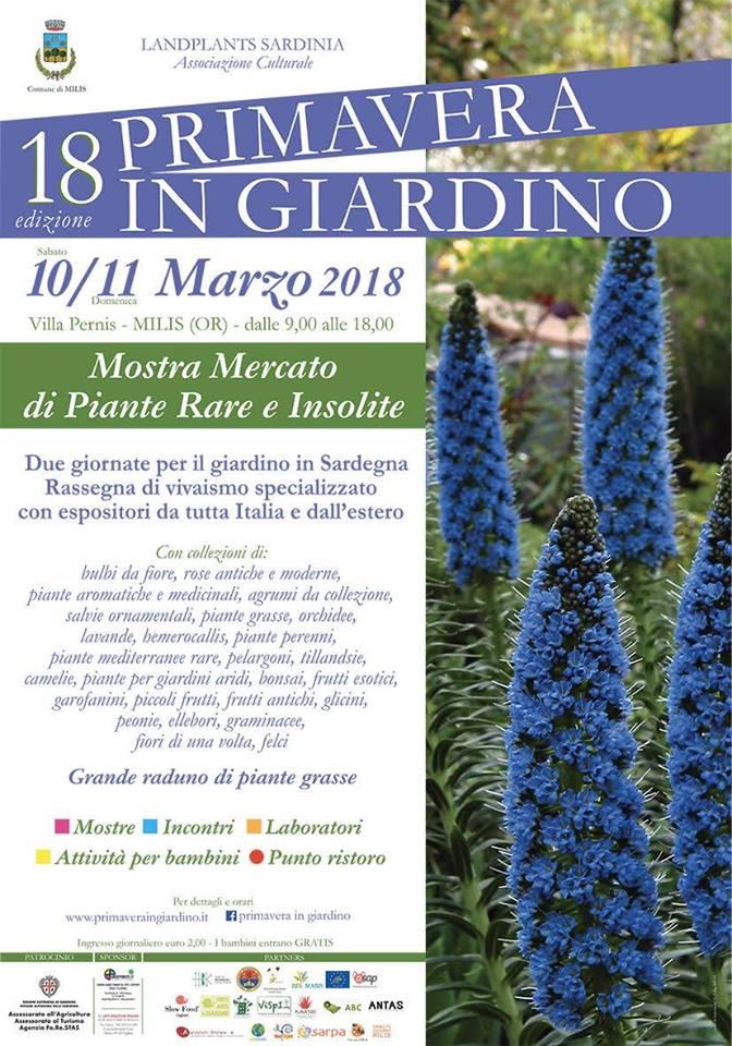 Primavera in Giardino a Milis - Sabato 10 e domenica 11 marzo 2018