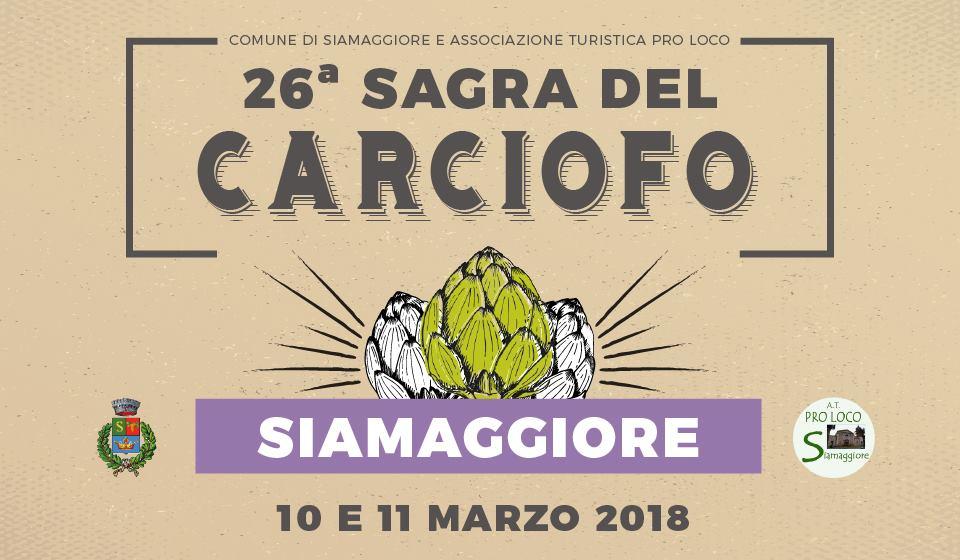 26^ Sagra del Carciofo a Siamaggiore - 10 ed 11 marzo 2018