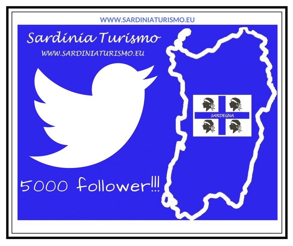 5000 follower su Twitter per Sardinia Turismo