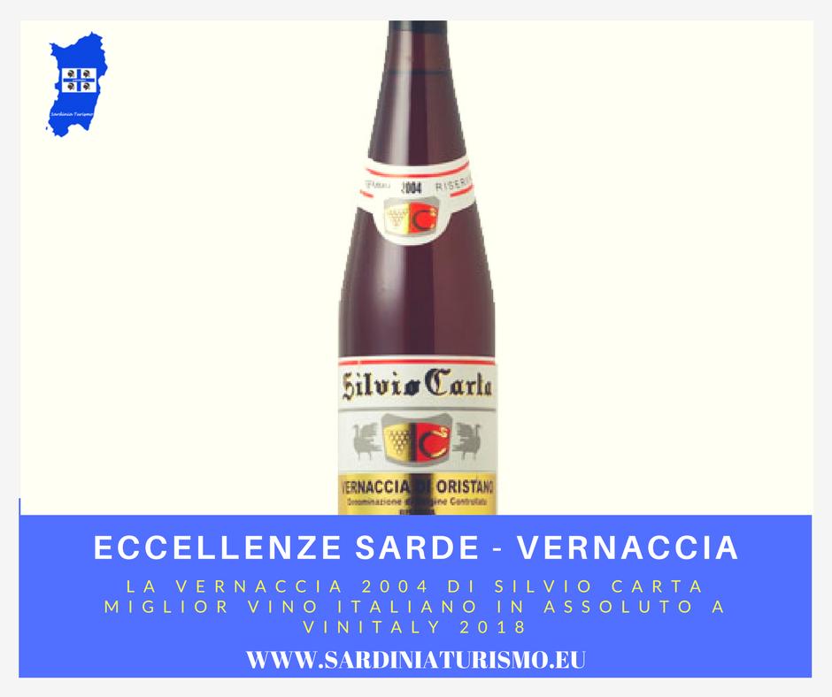 """La Vernaccia di Oristano Doc Riserva 2004 di Silvio Carta è stata eletta come """"Miglior Vino Italiano"""" nel corso dell'edizione 2018 diVinitaly"""