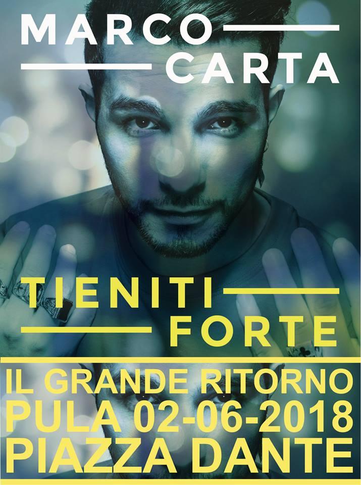Marco Carta in concerto a Pula - Sabato 2 giugno 2018