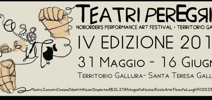 IV edizione di Teatri Peregrini - A Santa Teresa di Gallura dal 31 maggio al 16 giugno 2018