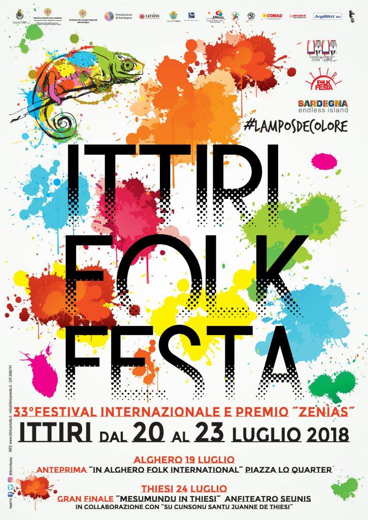 33^ edizione Ittiri Folk Festa - Dal 20 al 23 luglio 2018