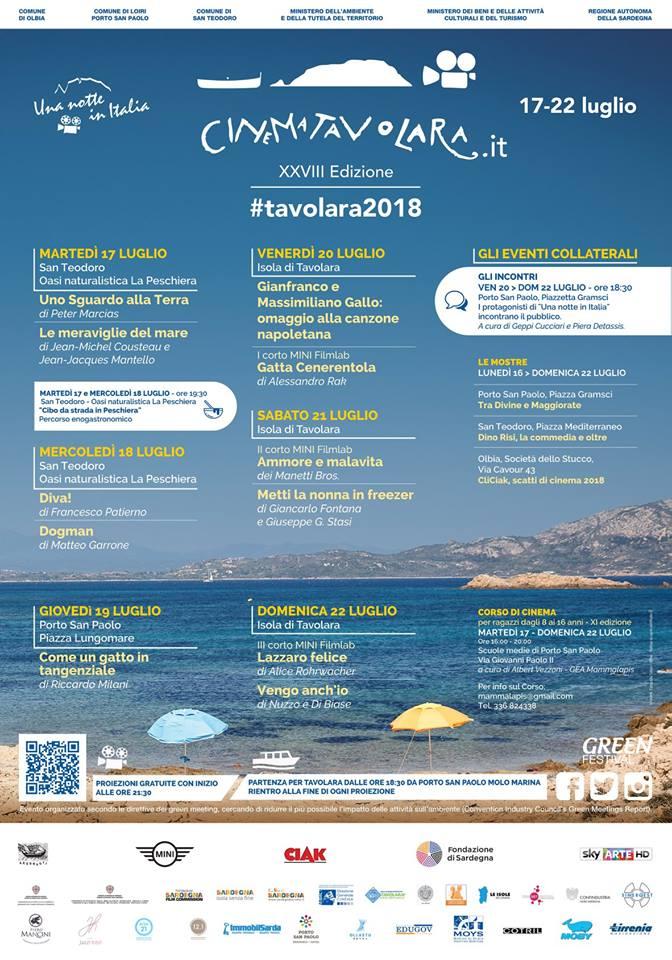 Il programma del Festival del Cinema di Tavolara