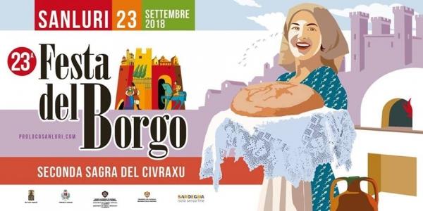Festa del Borgo e Sagra del Civraxu - A Sanluri il 23 settembre 2018