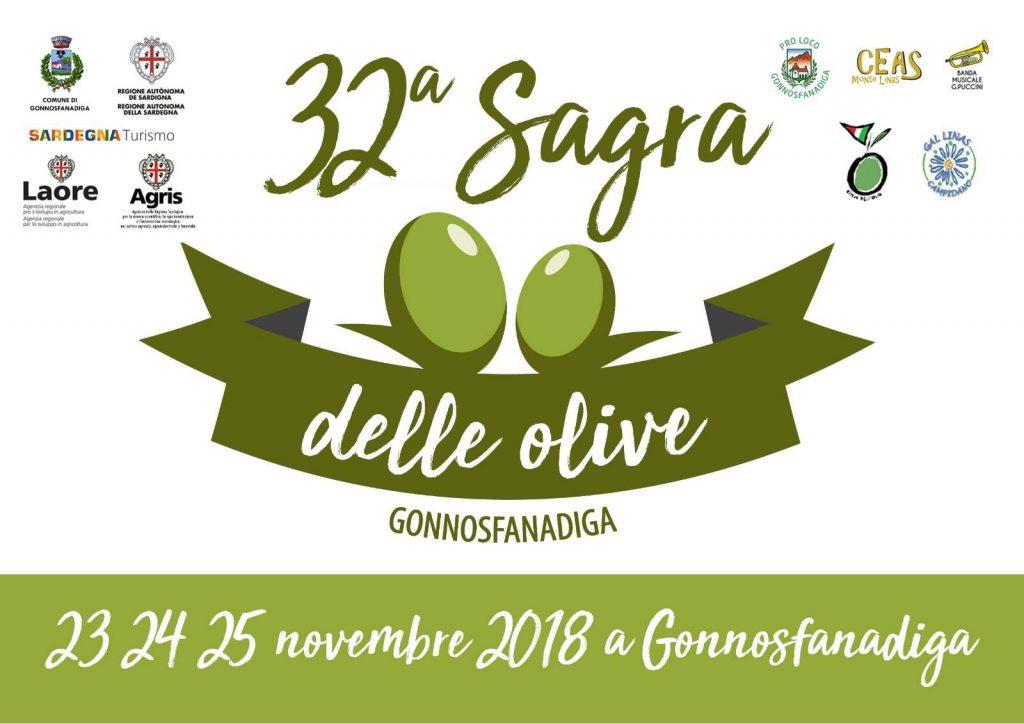 32^ Sagra delle olive di Gonnosfanadiga: dal 23 al 25 novembre 2018