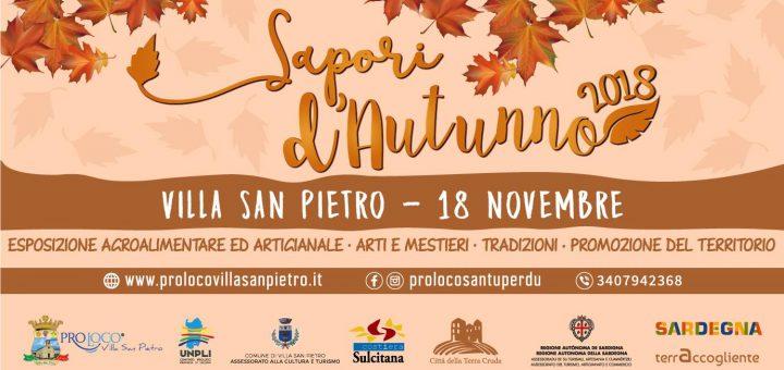 Sapori d'Autunno 2018 a Villa San Pietro - Domenica 18 novembre