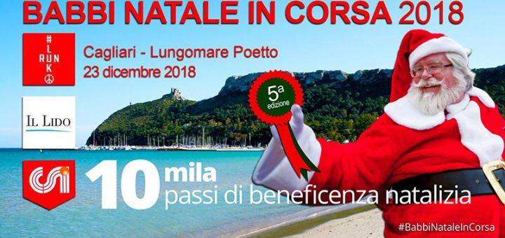 Babbi Natale in corsa a Cagliari: domenica 23 dicembre 2018 sul lungomare del Poetto
