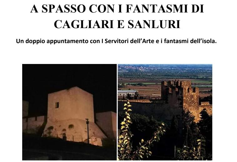 """A spasso con i fantasmi di Cagliari e Sanluri con """"I Servitori dell'Arte"""""""
