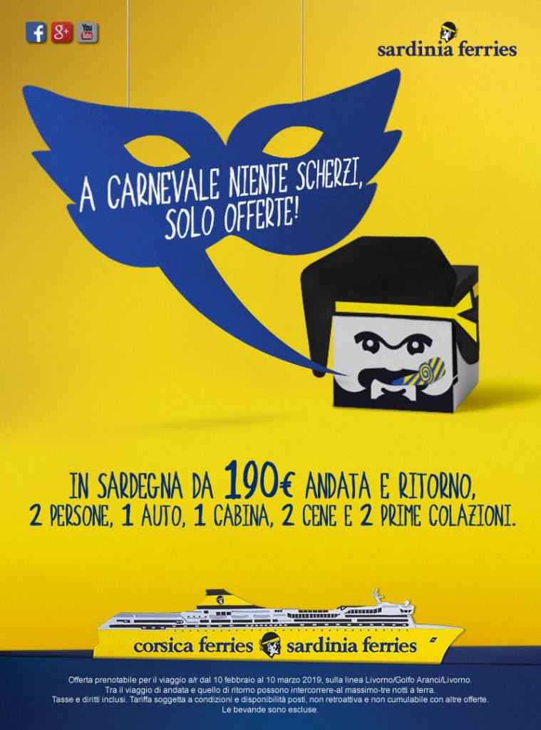 Le offerte di Carnevale di Sardinia Ferries