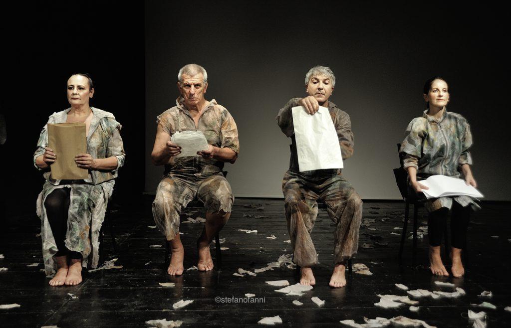 Quattro movimenti nel vuoto: Patrizia D'Orsi, Marco Carlaccini, Andrea Meloni e Sabrina Mascia.