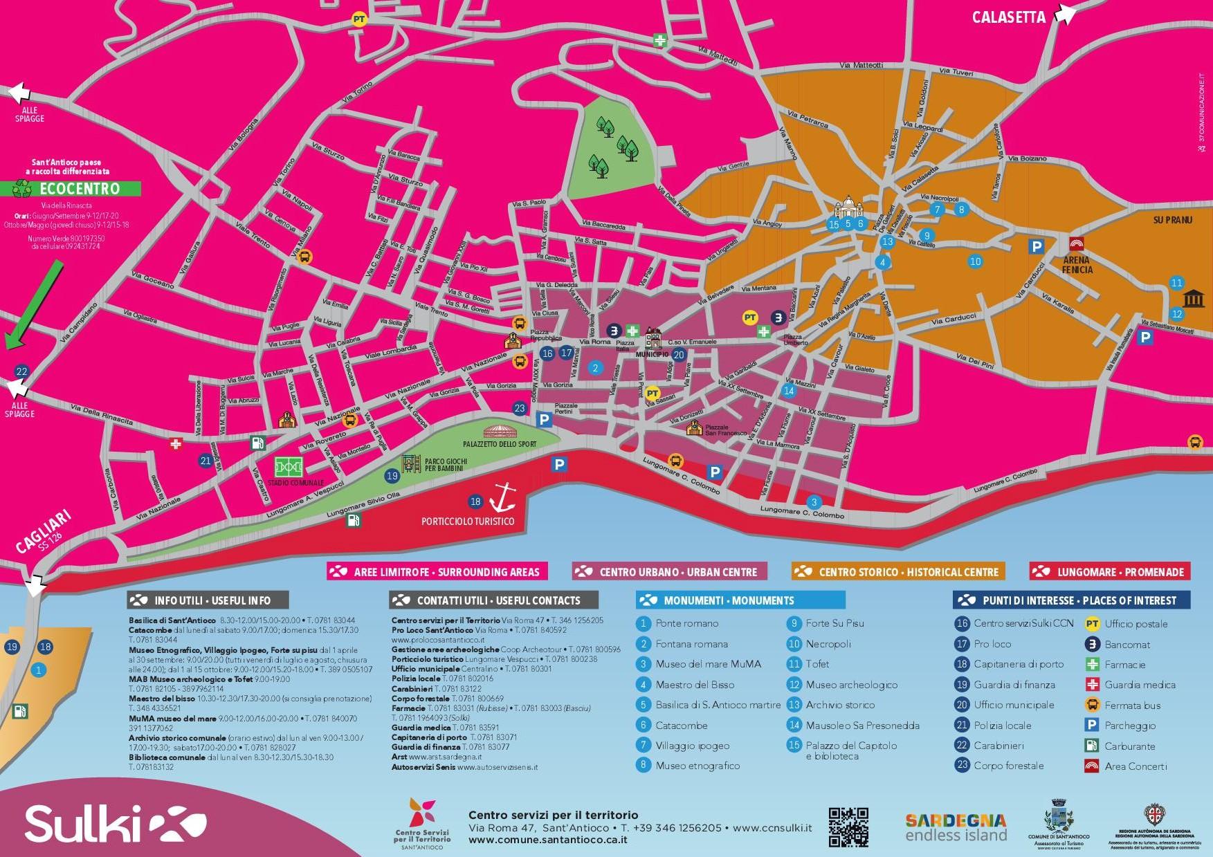 Cartina Sardegna Turistica.Le Nuove Cartine Turistiche Per Andare Alla Scoperta Di Sant Antioco