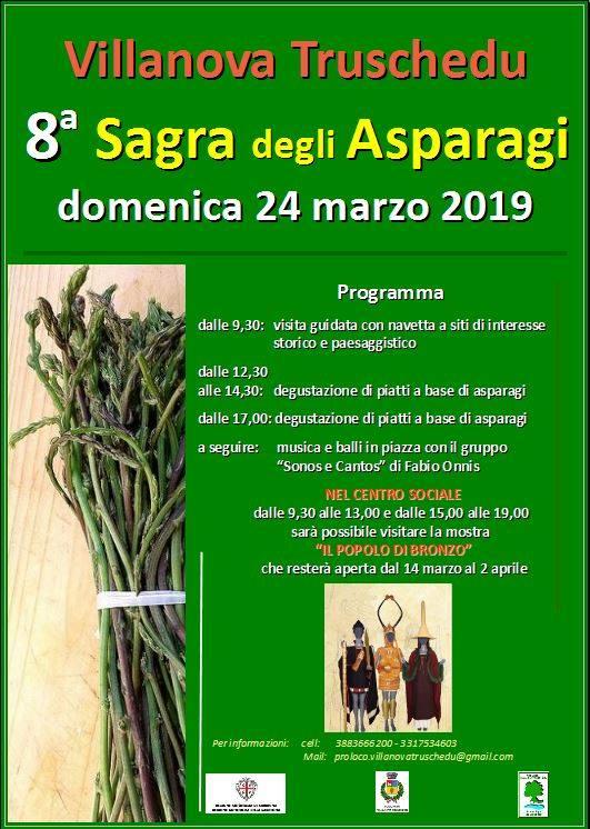 Sagra degli asparagi 2019 a Villanova Truschedu