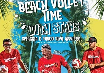 A Cannigione il Beach volley time with stars - Dal 20 al 23 giugno 2019