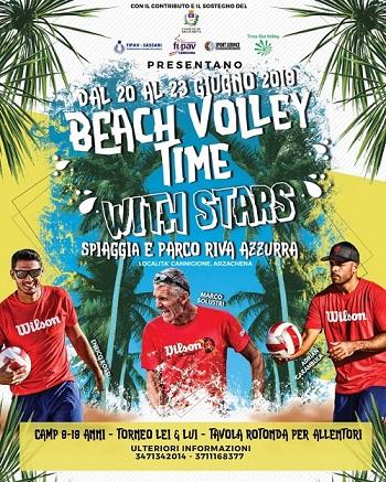 A Cannigione il Beach volley time with stars - Dal 20 al 23 giugno 2019