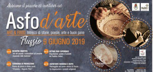 Asfod'arte 2019: Art & Food - A Flussio il 9 giugno