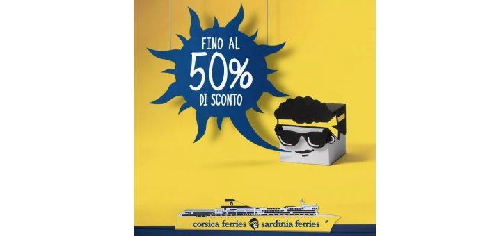 Le promozioni di Corsica Sardinia Ferries: fino al 50% di sconto!