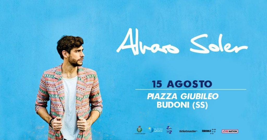 Alvaro Soler in concerto a Budoni