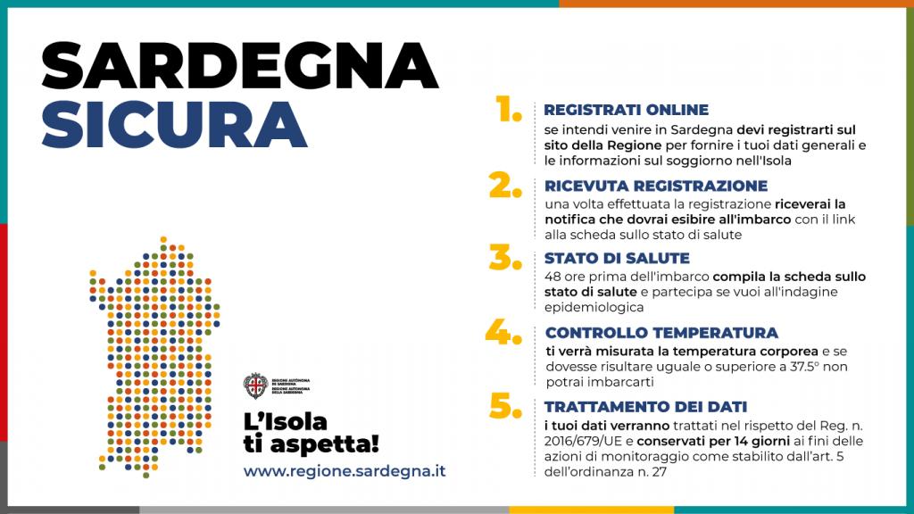 La registrazione dei passeggeri in arrivo in Sardegna è già online