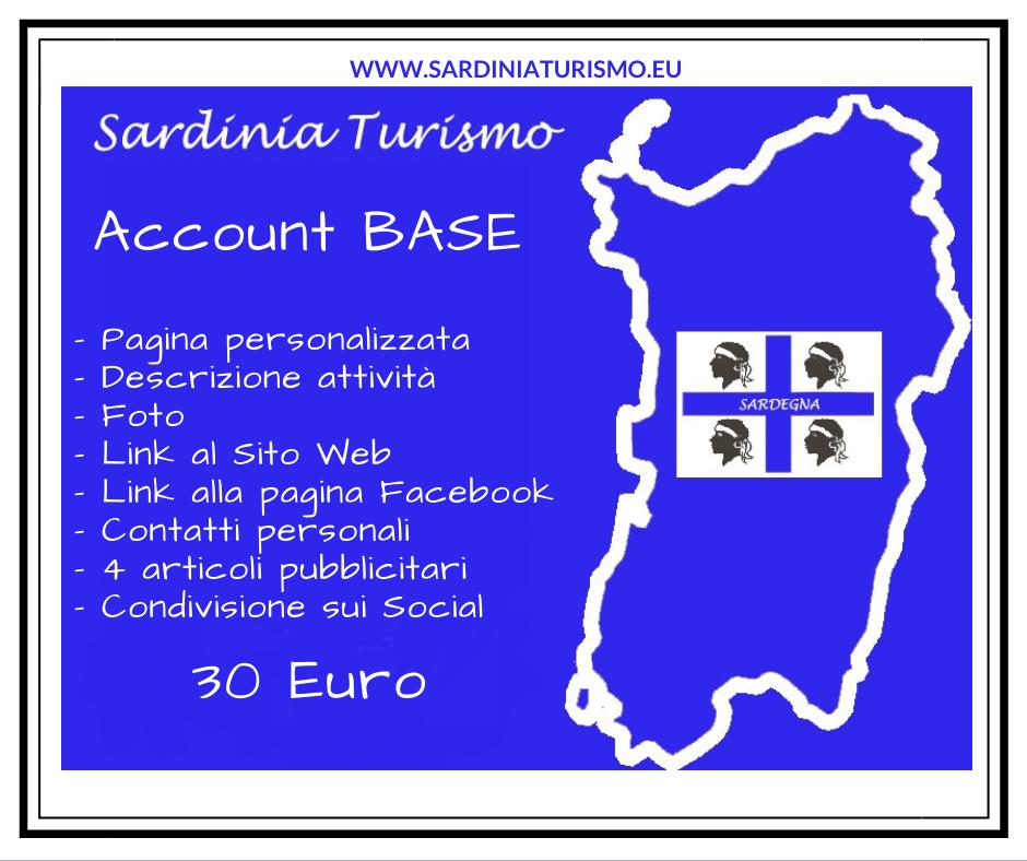 Account BASE su Sardinia Turismo