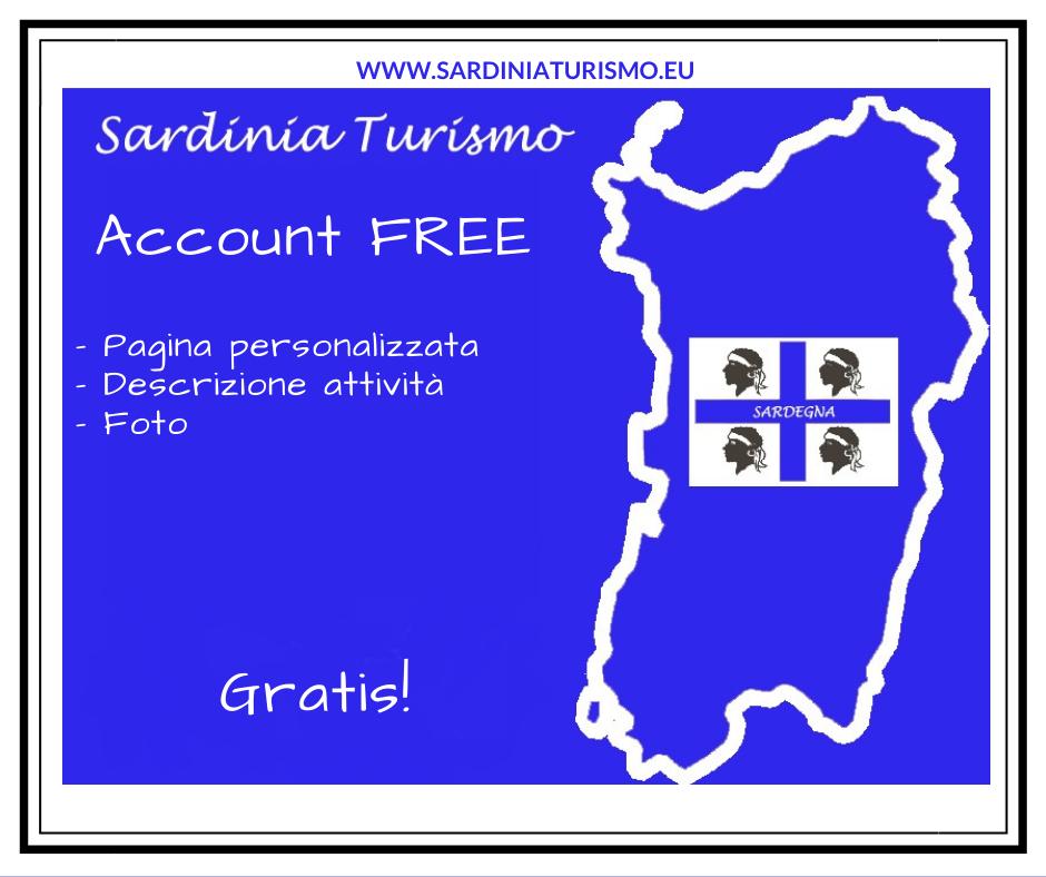 Account FREE su Sardinia Turismo