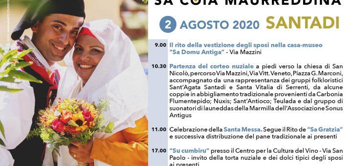 Matrimonio Mauritano 2020: domenica 2 agosto a Santadi