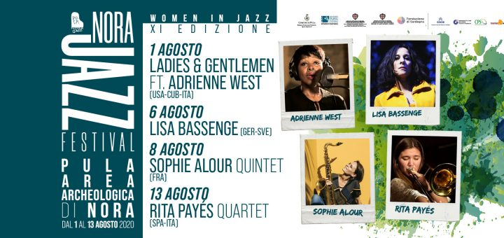 Nora Jazz Festival 2020: dall'1 al 13 agosto il jazz è donna a Nora