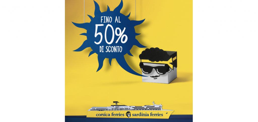 Sconto fino al 50% con Corsica Sardinia Ferries ad agosto